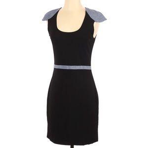 Jay Godfrey Womens Dress Size 4 Black Chambray